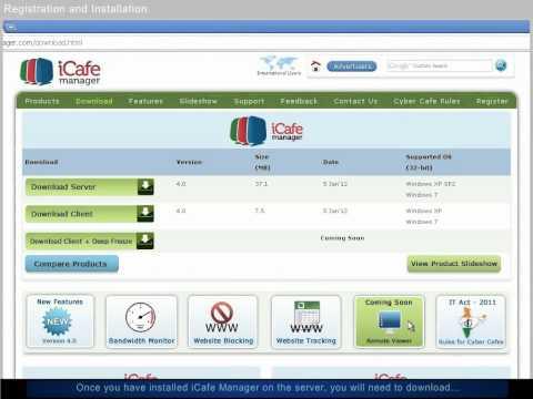 iCafe Manager: Registration & Installation