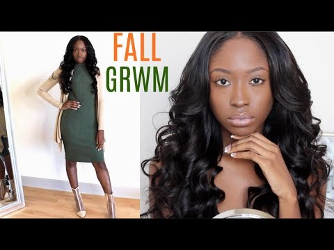 GRWM: Makeup, Hair, & Outfit | Affordable Holiday Outfit