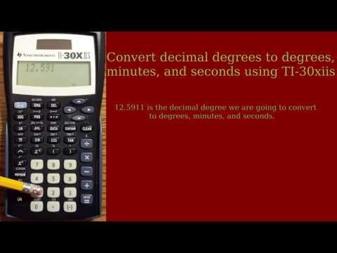 TI 30xiis - Decimal degrees to degrees, minutes, seconds