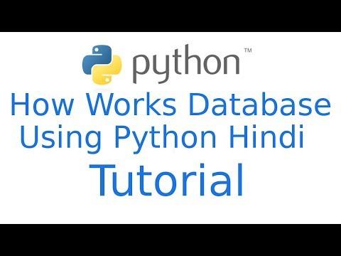 How works database using python   Python Programming Tutorial