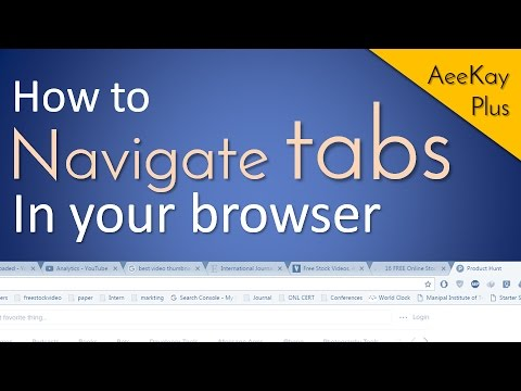How to switch tabs in browser | Keyboard shortcut | Browsertips#1