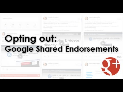 How to opt out of Google shared endorsements