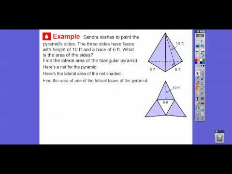 Surface Area of Pyramids - Lesson 11.4