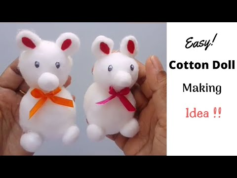 Cute and easy doll from cotton