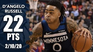 D'Angelo Russell scores 22 points in Timberwolves debut vs. Raptors | 2019-20 NBA Highlights