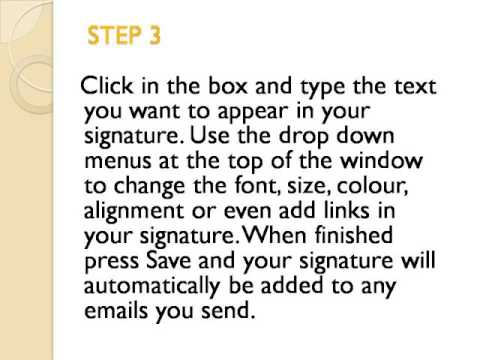 How to add Email Signature in hotmail