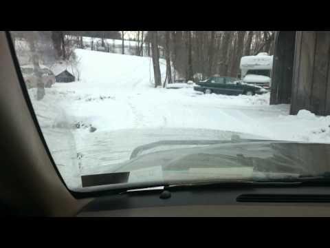 Rear wheel drive is good in snow
