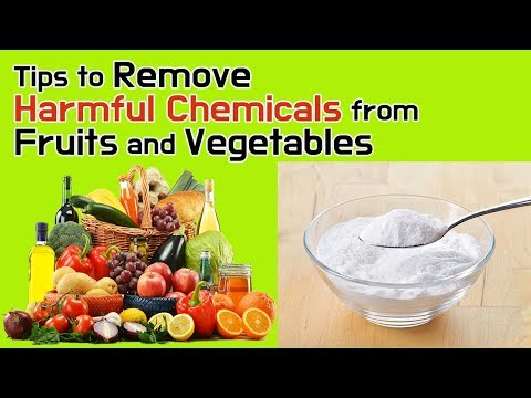 Tips to Remove Harmful Chemicals from Fruits and Vegetables