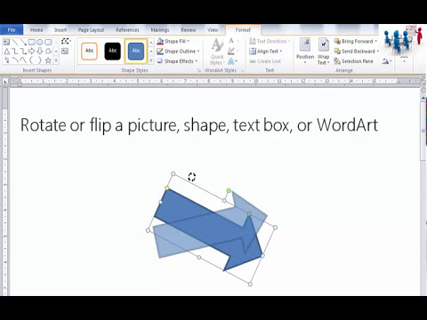 Rotate or flip a picture, shape, text box, or WordArt (Word 2010)