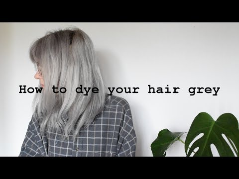 How to dye your hair grey// makki professional hair colouring mask grey
