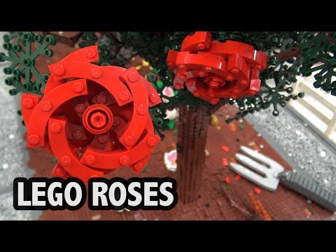 Amazingly Detailed LEGO Rose Bushes | Bricks Cascade 2018