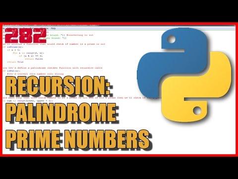 PYTHON Recursion - Palindrome prime numbers