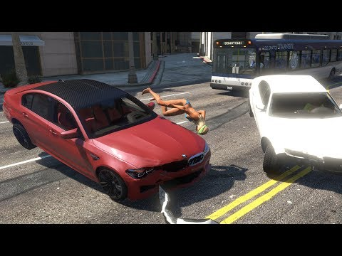 High Speed Crashes with Real Cars #4 - GTA 5 (Ultra Settings)
