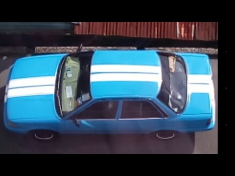 Amateur DIY - Paint Car At Home Using Rattle Cans, complete with graphic design stripes - PART 1