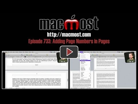 Adding Page Numbers in Pages (MacMost Now 733)