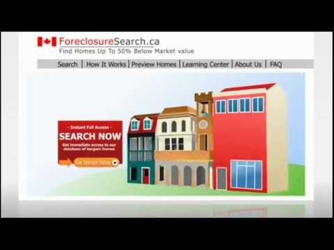 Canada Listings of Foreclosures