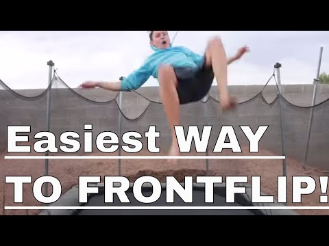 HOW TO DO A FRONTFLIP ON A TRAMPOLINE AND LAND IT