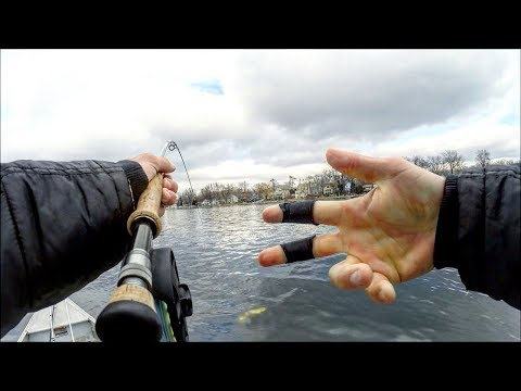 Finally!! Fly Fishing Ice Out Northern Pike