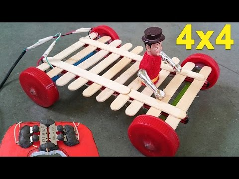 How to Make a 4x4 Remote Control Car -- Homemade Remote