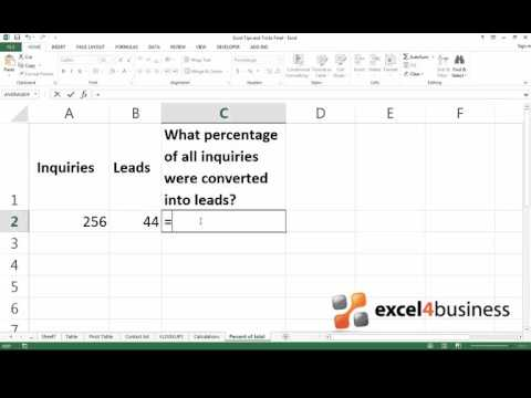 How to Calculate the Percentage of a Total in Excel