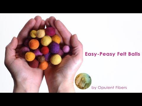 Easy-Peasy Felt Balls