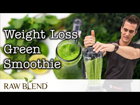 How to Make a Smoothie (Weight Loss Green Smoothie Recipe) in a Vitamix 5200 Blender by Raw Blend