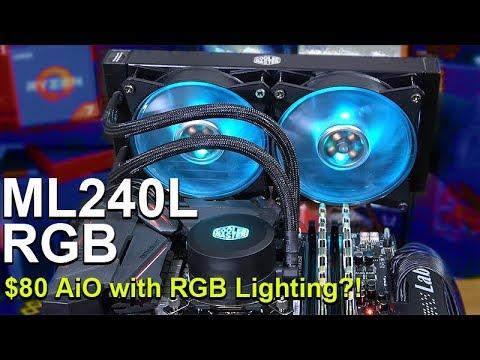 $80 Liquid Cooler with RGB Lighting? -- Cooler Master MasterLiquid ML240L RGB