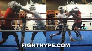 RARE ANDRE WARD SPARRING FOOTAGE; PUTTING HANDS ON BIGGER CRUISERWEIGHT IN SOUTHPAW STANCE