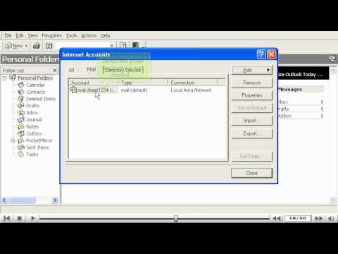 How to configure an email account in Outlook 2000 - Configuring Email Tutorials