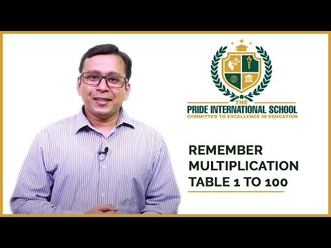 Math Tricks # Learn Table from 1 to 99 in 10 minutes (One easy trick)