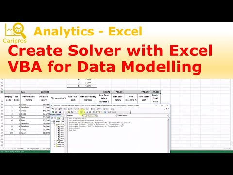 How to Create Solver with VBA for Data Modelling