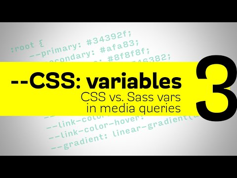 CSS Variables - CSS vs Sass - variables inside media queries
