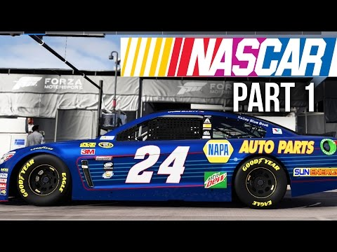 Forza Motorsport 6 NASCAR EXPANSION Gameplay Walkthrough Part 1 - SO MUCH SPEEEDDDD