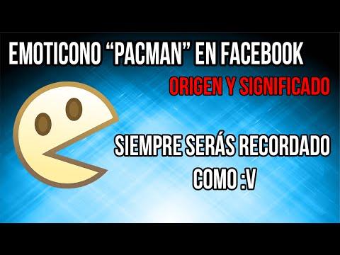 Emoticono :V Pacman de Facebook de donde salio, significado e historia
