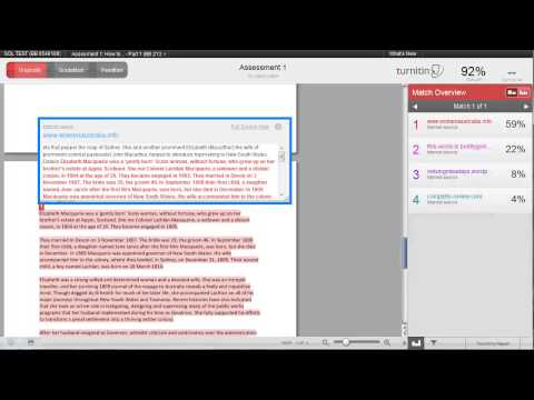 How to Interpret the Originality Report produced by Turnitin