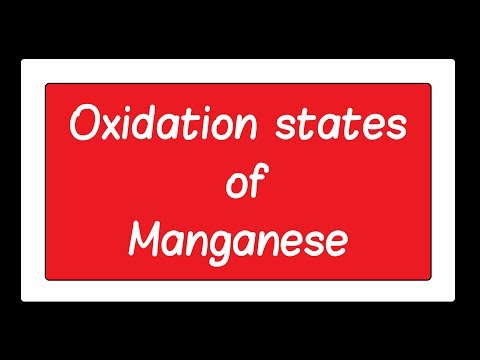 14  Oxidation states of Manganese ch2 12th
