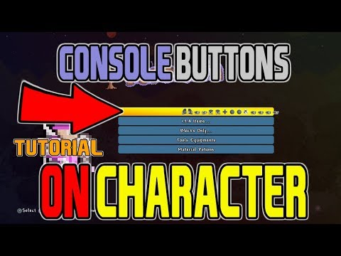 Terraria How To Get Console Buttons On CHARACTER NAME (FUN MOD AND WORKS ON ANY CONSOLE)