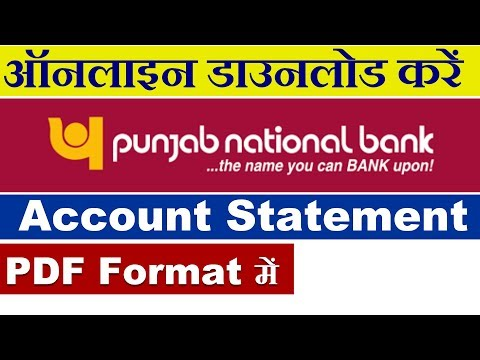 How to Download PNB Account Statement Online in PDF Format