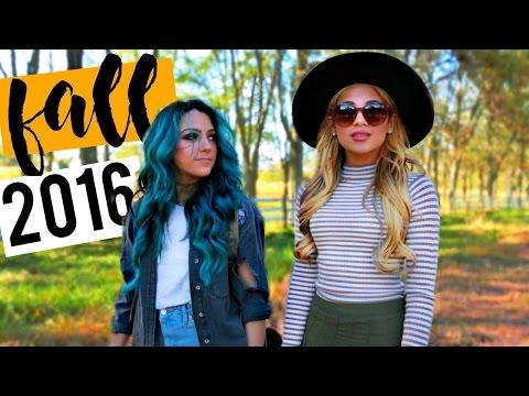 FALL LOOKBOOK 2016! Outfit ideas for Fall | Niki and Gabi