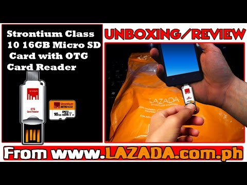 Strontium Class NITRO 433X 10 16GB Micro SD Card with OTG Card Reader from Lazada