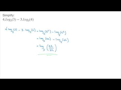 Logarithms - Simplifying Expressions with Logarithms - Examples - Tutorial 9