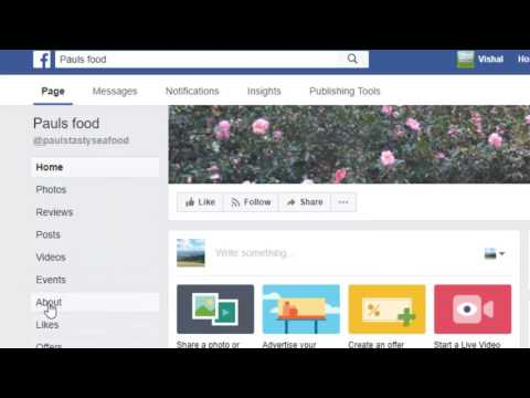 How to change the phone number of facebook page