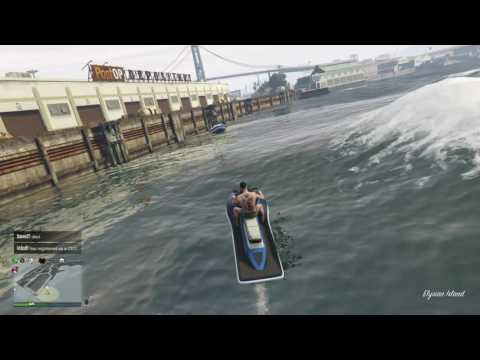 How to get into a boat in a hurry