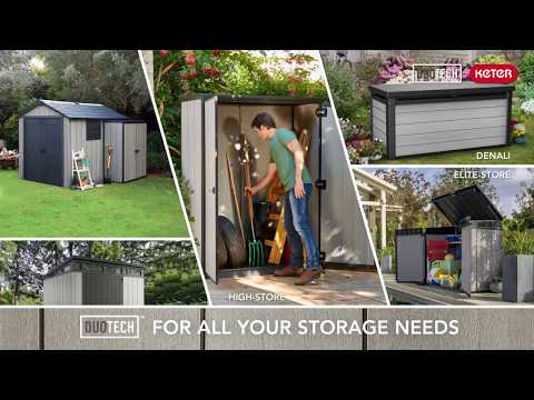Keter DUOTECH™sheds & outdoor storage products resistant and maintenance free