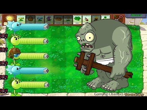 1 Fume-shroom vs 9999 Zombie vs Gargantuar - Plants vs