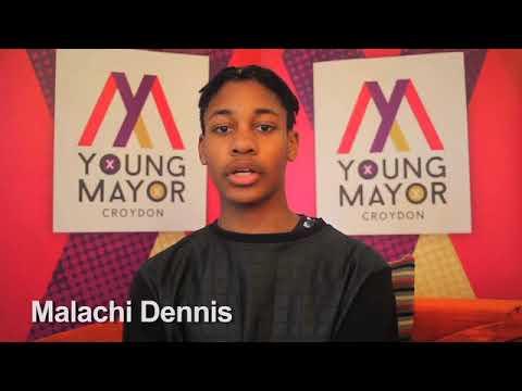 Croydon Young Mayor candidate - Malachi Dennis