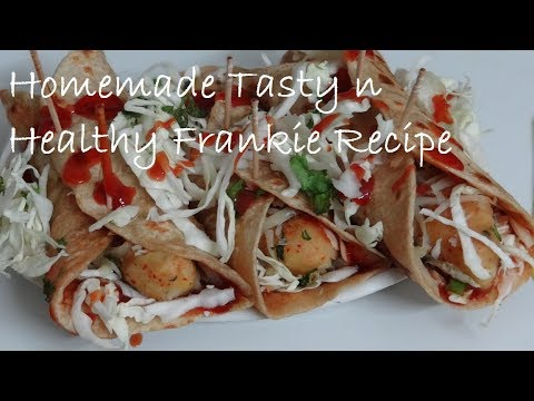 How to make Veg Frankie at Home  -Kids Lunchbox Recipe - Healthy Street  Side Frankie Recipe