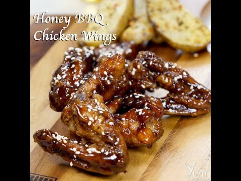 Honey BBQ Chicken Wings | Honey BBQ Chicken Wings recipe | honey bbq wings