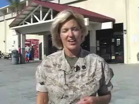 Amy Forsythe promotes the benefits of having a military ID Card