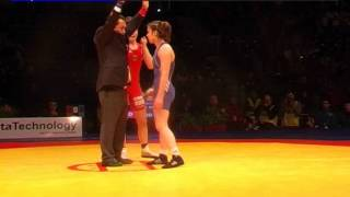 Wrestling / Euro 2012 / 51kg Female Alexandra Engelhardt Ger Vs. Bagomedova Patimat Aze